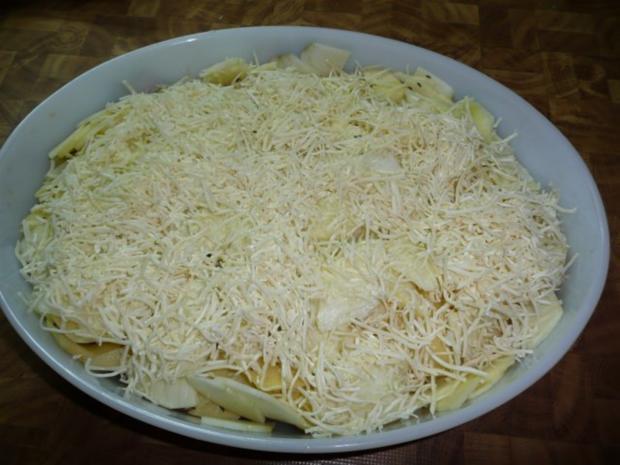 Kammkotelett , Kartoffel - Gratin - Rezept - Bild Nr. 5