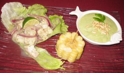 Peru encuentra el Mediterraneo - Ceviche und Gazpacho - Rezept