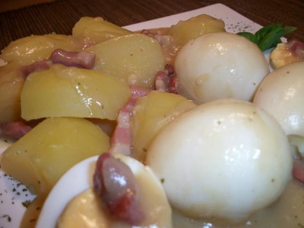 Senfeier mit Salzkartoffeln und Bohnensalat.....Norddeutsche Art......Wie bei meiner Oma.. - Rezept - Bild Nr. 7
