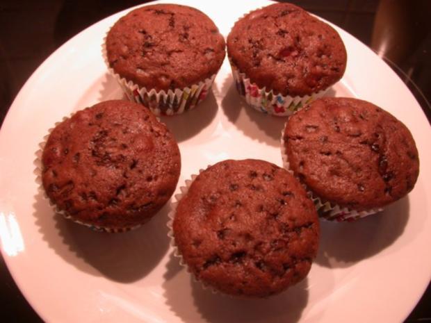 Schoko-Kirsch-Muffins - Rezept - Bild Nr. 4