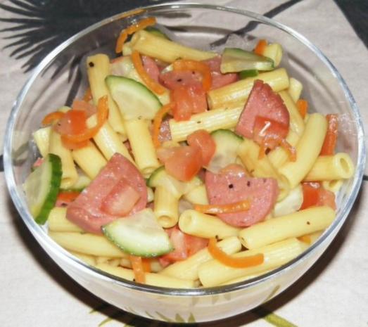 Bunter Nudel-Salat 2 - Rezept