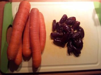 Möhrensalat mit Apfel und Datteln - Rezept