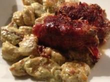 Schweinefilet-Päckchen mit Tomaten-Gnocchi - Rezept