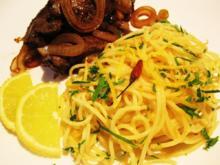 Zitronen-Spaghetti mit Chilischoten ... - Rezept