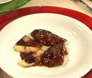 Asiatisch zubereitete Entenleber mit Soja und Bergpfirsich - Rezept