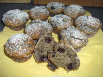 Amaretto-Kirsch-Muffins - Rezept