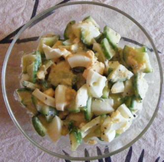 Eier-Gurken-Salat - Rezept