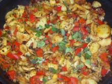 Rosmarin-Bratkartoffeln mit Äpfeln und Gemüse - Rezept