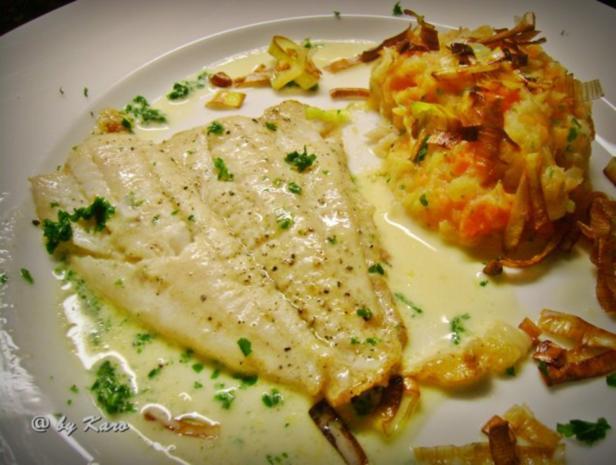 Fisch: Zitroniges Schollenfilet an Petersilien- Zitronen Sauce - Rezept