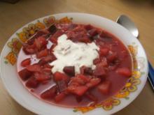 Rote-Bete-Kartoffelsuppe - Rezept