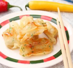 Wan Tan - Garnelen mit Wasabi-Creme fraiche - Rezept
