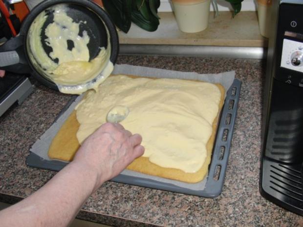 Kirsch-Schmand-Blech-Kuchen - Rezept - Bild Nr. 5
