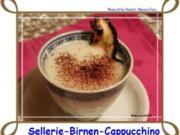Sellerie - Birnen - Cappuccino - Rezept