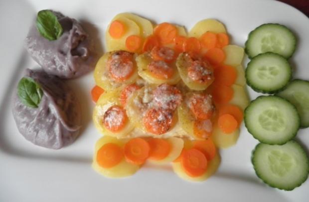 Zugedeckter Fisch mit violetten Kartoffelpüree - Rezept - Bild Nr. 9
