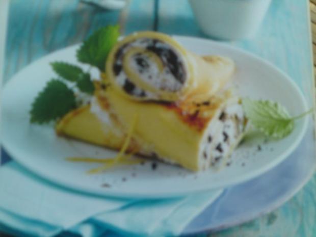 Pfannkuchen mit Quarkfüllung - Rezept