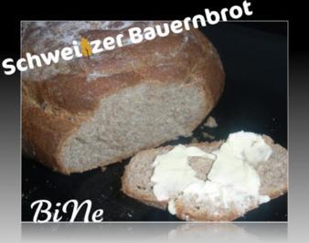 Rezept: BiNe` S SCHWEIZER BAUERNBROT
