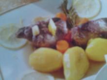 Lammfleisch mit Kartoffeln und Gemüse - Rezept