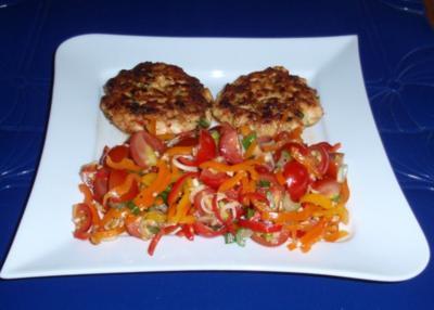 Asiatischer Tomaten-Paprikasalat - Rezept