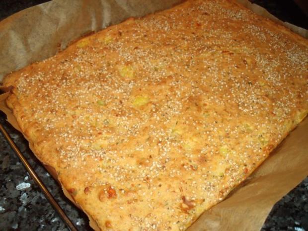 Schafskäse-Blechkuchen - Rezept