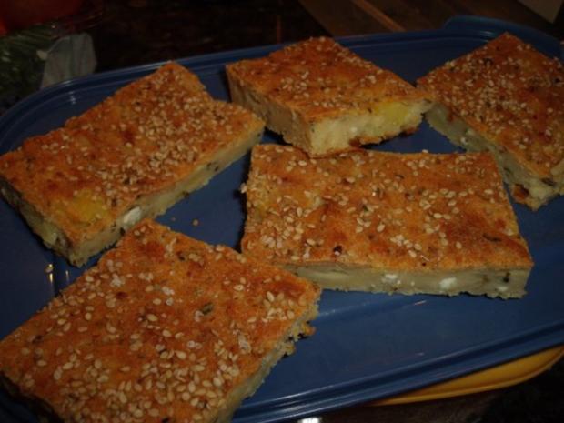 Schafskäse-Blechkuchen - Rezept - Bild Nr. 2