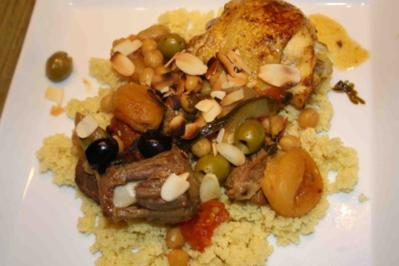 Couscous mit marrokanischem Schmortopf - Rezept