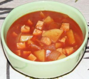 Kartoffel-Zwiebel-Putenschinken-Topf - Rezept