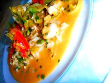 Hühnchen mit Gemüse in fernöstlicher Kokos-Sauce; spicy/-scharf - Rezept
