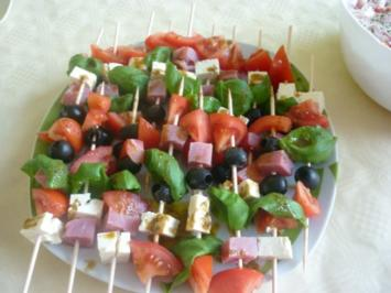 Rezept: Tomaten-Mozzarella,Spieße
