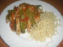 Chinesisches Gemüse mit Putenbruststreifen - Rezept