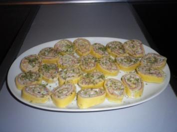 Käse - Zwiebel - Rolle mit Schinken - Rezept