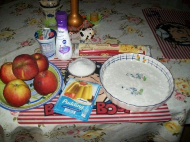 Schneller Blätterteig- Apfelkuchen mit Vanillepudding - Rezept - Bild Nr. 5