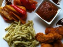 SWEET Paprika mit Nudeln und Scharfer-Soße - Rezept - Bild Nr. 2