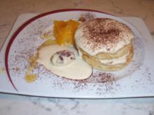 Bisquit mit Zimt-Orangen-Mascarponecréme - Rezept