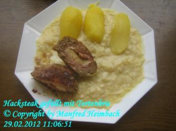 Fleisch – herzhaftes Hacksteak gefüllt mit Tortenbrie - Rezept