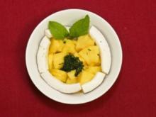 Ananas mit Minz-Pesto und Sorbet (Claudia Hiersche) - Rezept