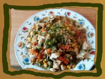 Kochen mit Ebly Hähnchenstreifen in Gemüse - Rezept