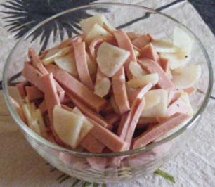 Rettich-Geflügelfleischwurst-Salat - Rezept
