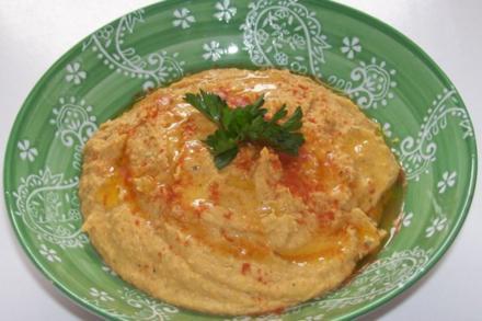 Hummus (Kichererbsenpaste) - Rezept