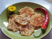Rosmarin-Käse-Chips mit fruchtigem Dip - Rezept