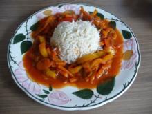 Fleischlos : Gemüsepfanne an Naturreis - Rezept