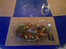 Geflügel: Hähnchenschenkel mit Gemüsemix - Rezept