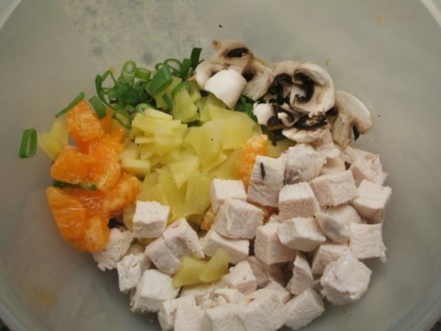 Salate: Fruchtiger Geflügelsalat - Rezept - Bild Nr. 3