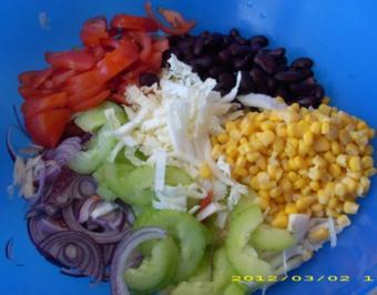 Bunter großer Tagessalat - Rezept