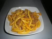 Tomaten - Haschee mit Nudeln - Rezept