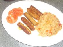 Cevapcici und scharfer Reis - Rezept