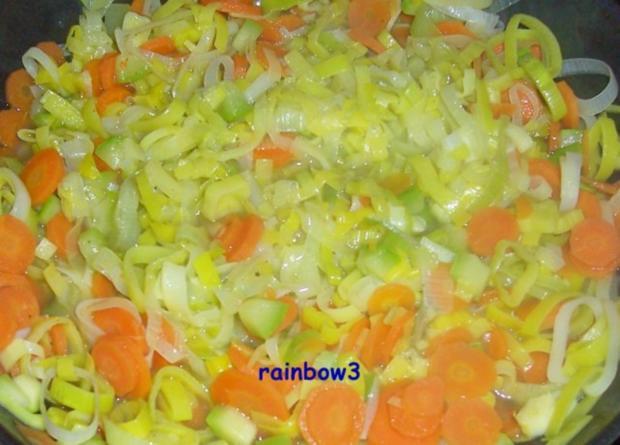 Kochen: Käsige Gemüsepfanne, überbacken - Rezept - Bild Nr. 5
