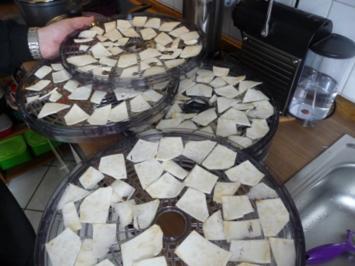Vorräte : ...trocknen - Sellerie und Petersilienwurzel - Rezept