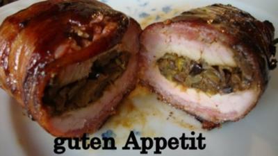 Rezept: eingepackte und gefüllte Schweinelende