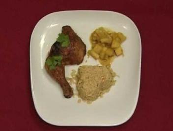 Tobago Chicken mit tropischem Reis und Curry-Äpfeln (Peter Imhof) - Rezept