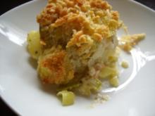 Kartoffel - Lauch - Auflauf mit Lachs - Rezept